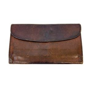 Vintage Coach Trifold Brown Leather Wallet 1980's